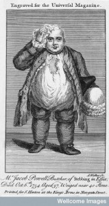 Jacob Powell, who died weighing almost 40 stone. Wellcome Library, London.