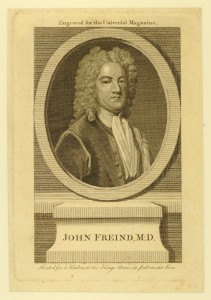 Engraving of John Freind, reproduced courtesy of the British Museum
