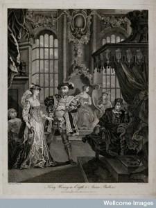 V0049224 Henry VIII and Anne Boleyn