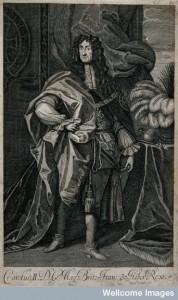 V0048351 King Charles II, standing.