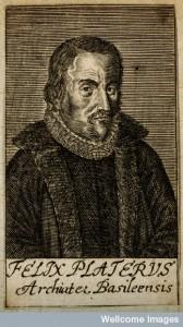 V0004693 Felix Plater [Platter]. Line engraving, 1688.