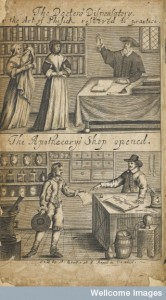 L0035212 The doctor's dispensary and the apothecary's shop