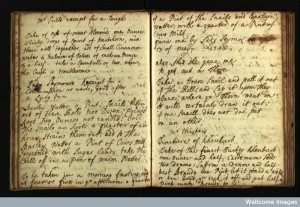 English culinary and medical recipe book Credit: Wellcome Library, London.
