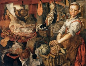 Joachim Beuckelaer - Kitchen Interior Wikimedia Commons