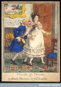 A prostitute leading an old man into the bedroom Credit: Wellcome Library, London.