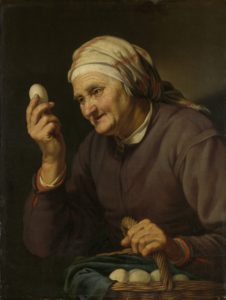 Old Woman Selling Eggs, Hendrick Bloemaert, 1632. Courtesy Rijksmuseum